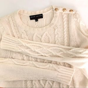 Madewell et Sezane Marin Cable Sweater Size Small
